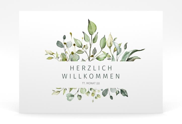 "Willkommensschild Poster ""Enchanting"" 70 x 50 cm Poster weiss"