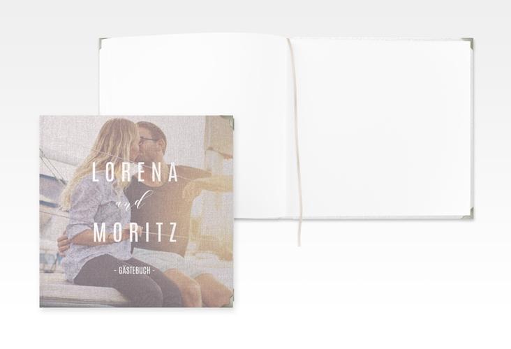"Gästebuch Selection Hochzeit ""Memory"" Leinen-Hardcover grau"