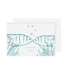"Save the Date-Postkarte ""Ocean"""
