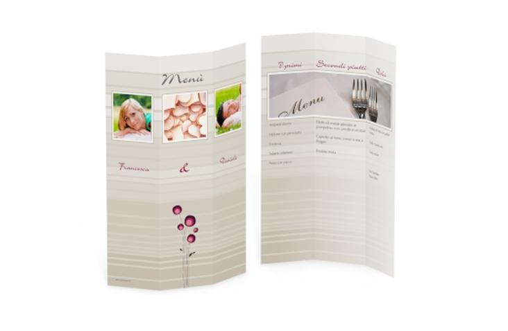 Menù matrimonio collezione Tivoli DIN A4 Wickelfalz