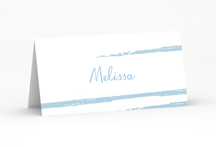 """Tischkarte Hochzeit """"Mare"""" Tischkarten blau"""