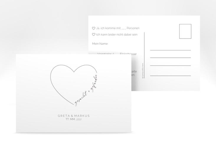 """Antwortkarte Hochzeit """"Lebenstraum"""" A6 Postkarte weiss"""