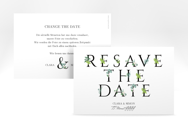 "Change the Date-Karte ""Greens"" A6 quer"
