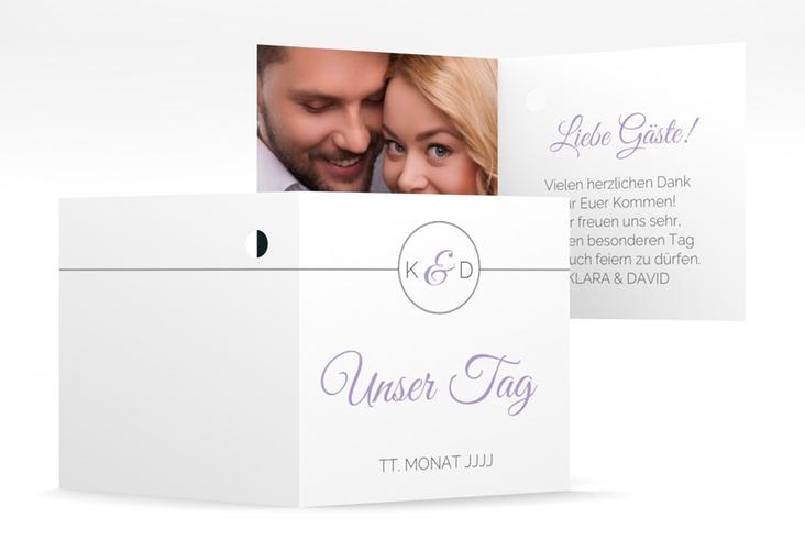 """Geschenkanhänger Hochzeit """"Unique"""" Geschenkanhänger 10er Set flieder"""