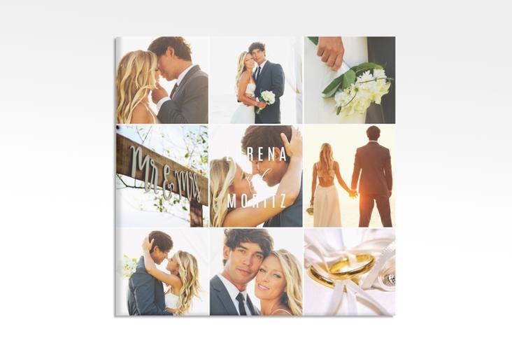 "Hochzeitscollage Leinwand ""Memory"" 30 x 30 cm Leinwand weiss"
