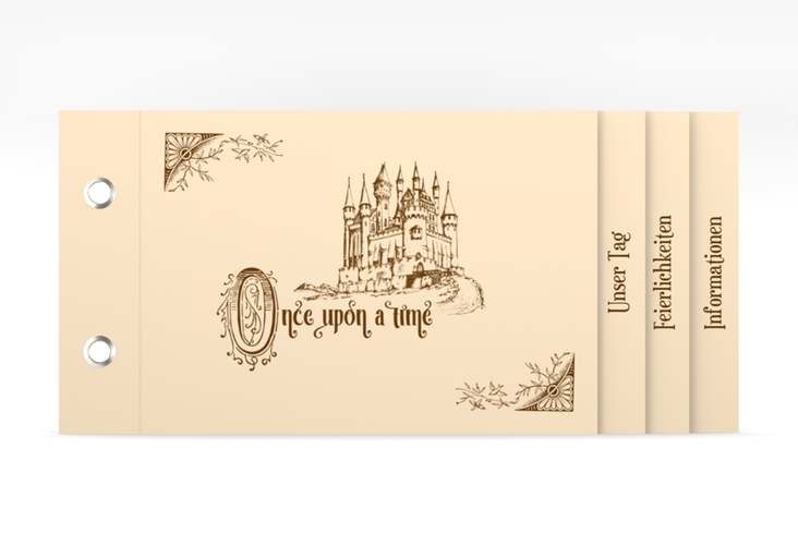 """Hochzeitseinladung """"Storybook"""" Booklet"""