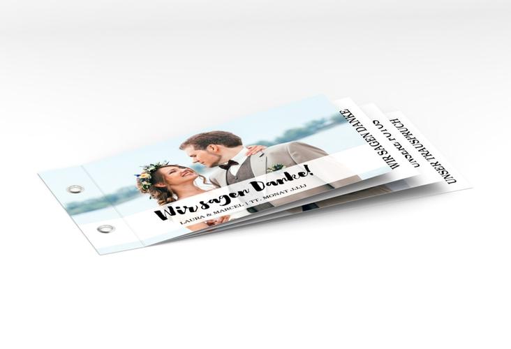 """Danksagungskarte Hochzeit """"Mirage"""" Booklet weiss"""