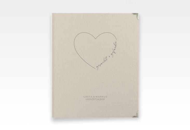 """Hochzeitsalbum """"Lebenstraum"""" 21 x 25 cm beige"""