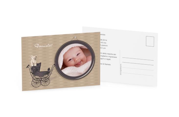 Biglietti nascita passeggino A6 Postkarte