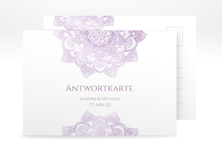 """Antwortkarte Hochzeit """"Delight"""" A6 Postkarte flieder"""