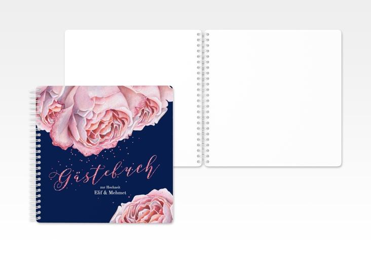 """Gästebuch Hochzeit """"Cherie"""" Ringbindung rosa"""