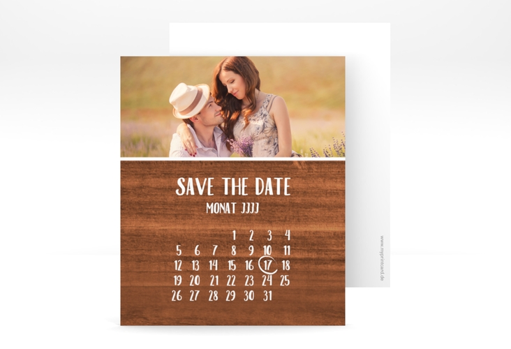 "Save the Date-Kalenderblatt ""Landliebe"" Kalenderblatt-Karte"