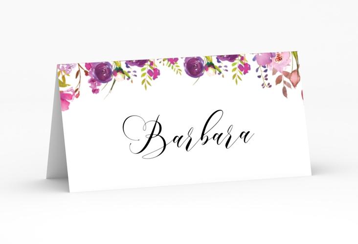 """Tischkarte Hochzeit """"Violett"""" Tischkarten weiss"""