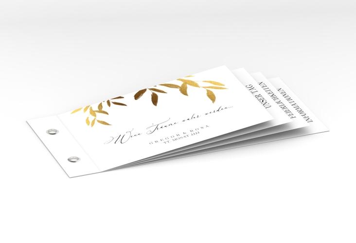 """Hochzeitseinladung """"Demure"""" Booklet weiss"""
