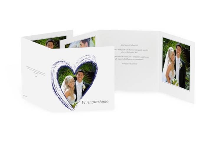 Ringraziamenti matrimonio collezione Tolone Quadr. Karte doppelt