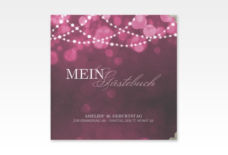"Gästebuch Selection Geburtstag ""Girlande"" Leinen-Hardcover pink"