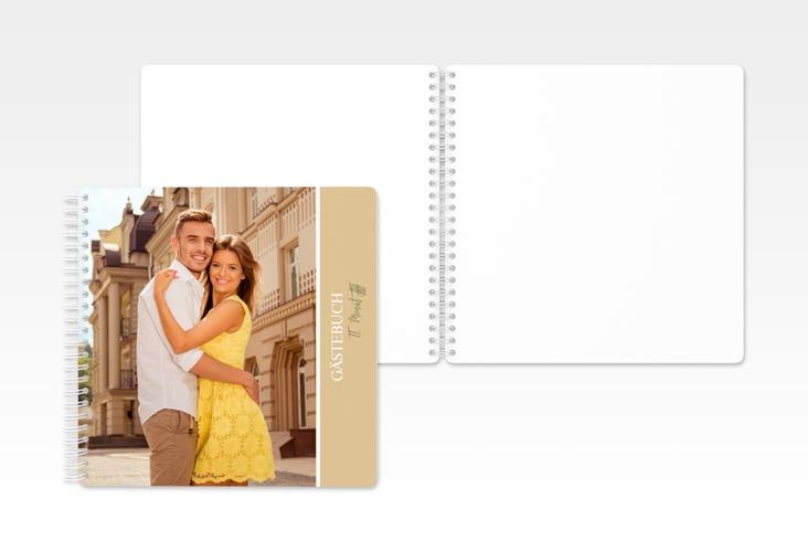 "Gästebuch Hochzeit ""Classic"" Ringbindung beige"