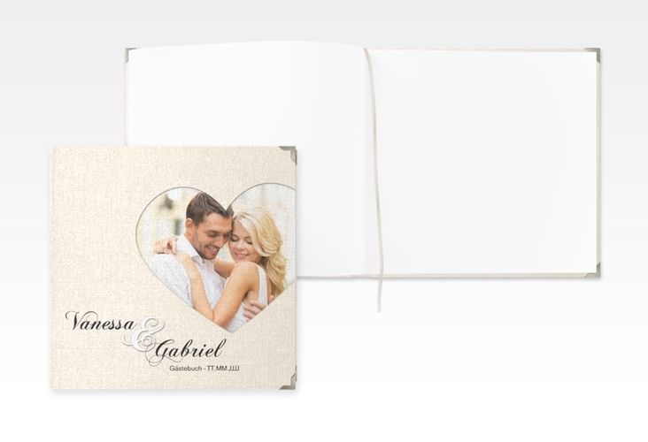 "Gästebuch Selection Hochzeit ""Sweetheart"" Leinen-Hardcover beige"