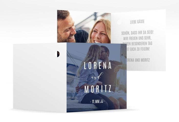 """Geschenkanhänger Hochzeit """"Memory"""" Geschenkanhänger 10er Set blau"""