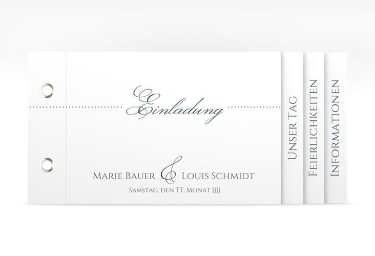 """Hochzeitseinladung """"Pure"""" Booklet grau"""