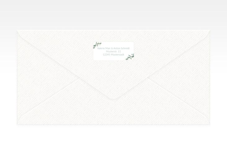"""Absenderetikett Hochzeit """"Verde"""" 45,7 x 21,2 mm weiss"""