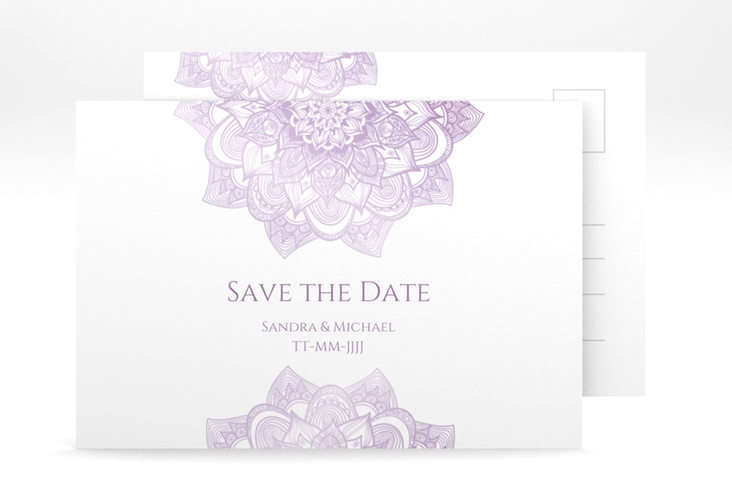 "Save the Date-Postkarte ""Delight"" A6 Postkarte flieder"