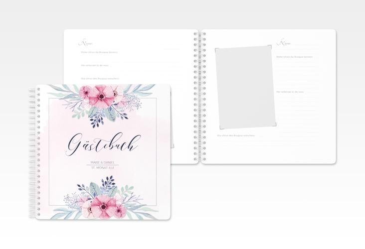 "Gästebuch Hochzeit ""Surfinia"" Ringbindung rosa"