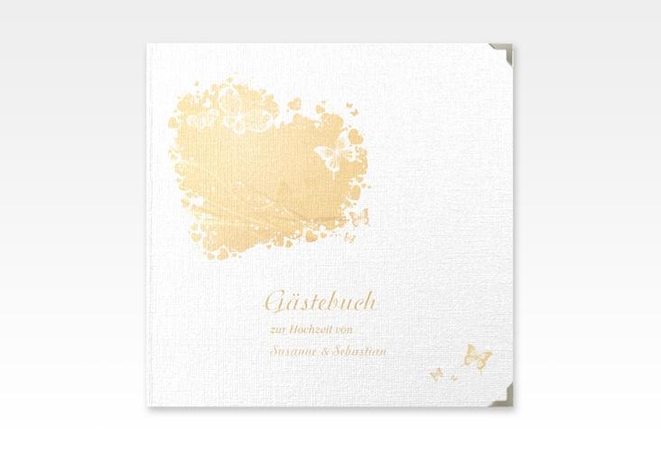 """Gästebuch Selection Hochzeit """"Mailand"""" Leinen-Hardcover beige"""