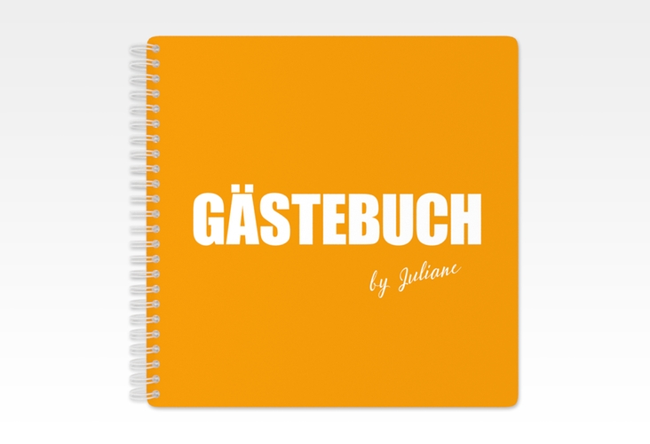 "Gästebuch Geburtstag ""Zig"" Ringbindung orange"