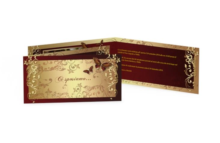 Inviti matrimonio collezione Tolosa DIN lang Klappkarte