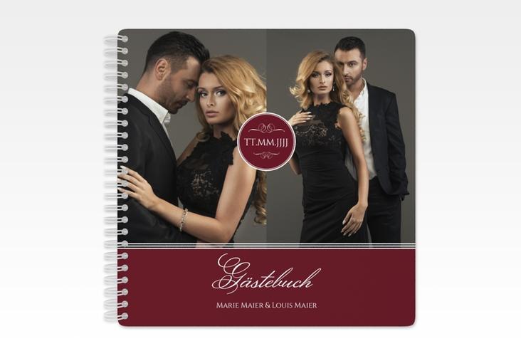 "Gästebuch Hochzeit ""Elegancy"" Ringbindung rot"