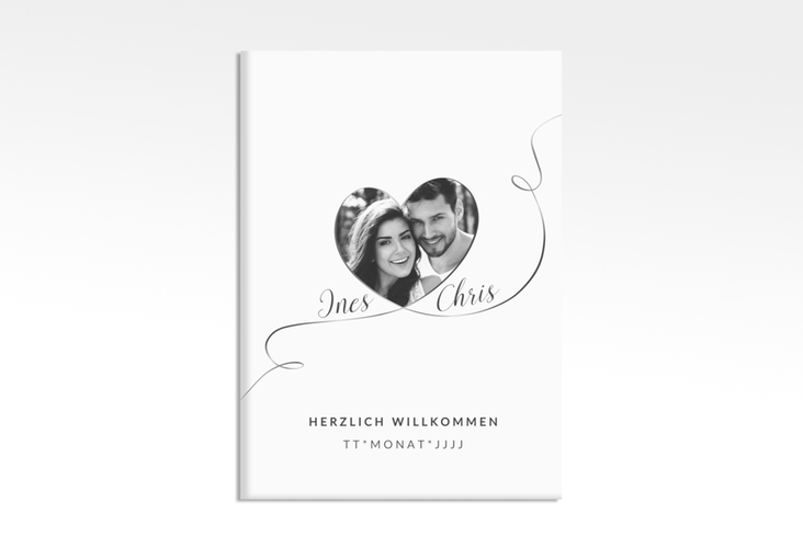 """Willkommensschild Poster """"Dolce"""" 50 x 70 cm Leinwand weiss"""