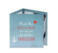 """Danksagungskarte Hochzeit """"Ehehafen"""""""