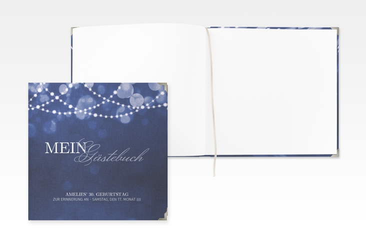 "Gästebuch Selection Geburtstag ""Girlande"" Hardcover blau"