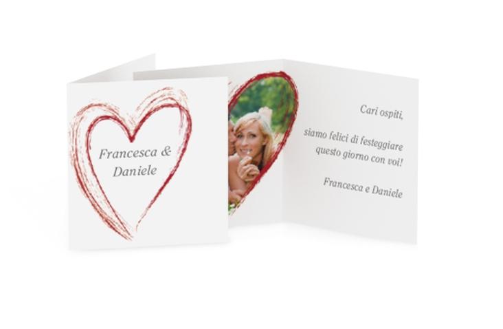 Biglietti Bomboniera matrimonio collezione Tolone Geschenkanhänger 10er Set rosso
