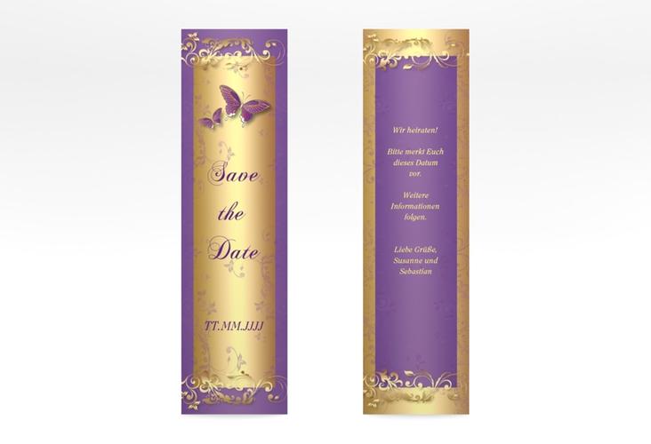 "Save the Date-Lesezeichen ""Toulouse"" Lesezeichen lila"