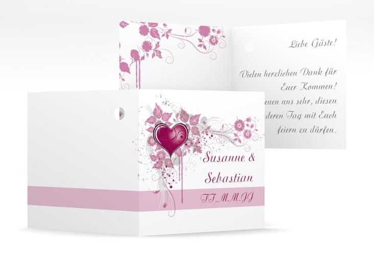 """Geschenkanhänger Hochzeit """"Triest"""" Geschenkanhänger 10er Set pink"""