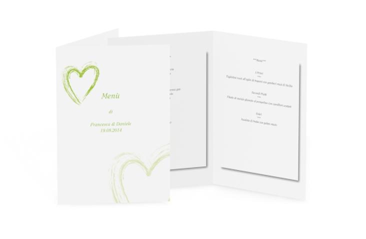 Menù matrimonio collezione Tolone DIN A5 geklappt verde