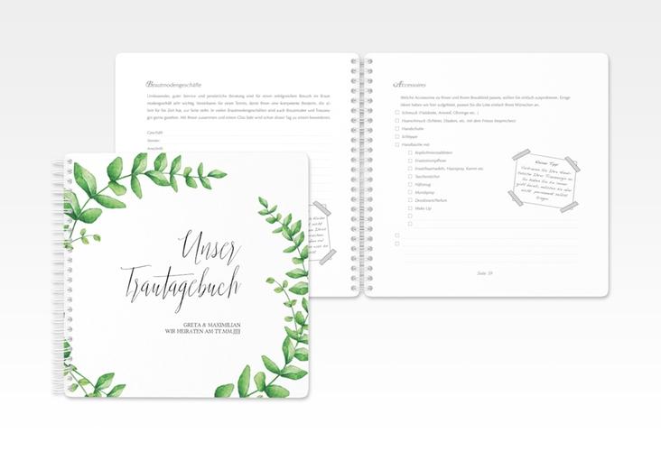 """Trautagebuch Hochzeit """"Botanic"""" Trautagebuch Hochzeit weiss"""