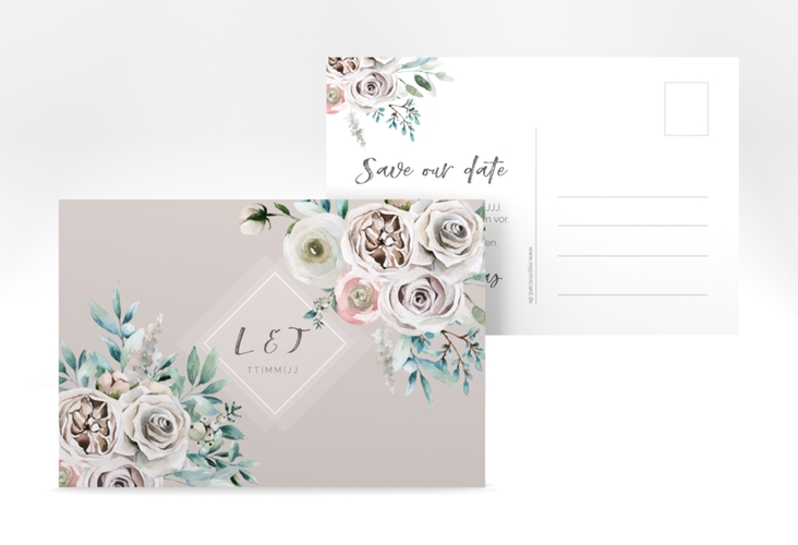 "Save the Date-Postkarte ""Romance"" A6 Postkarte"