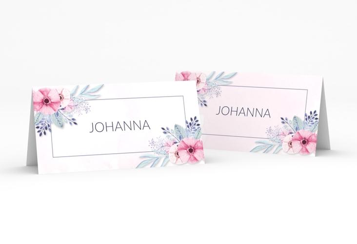 """Tischkarte Hochzeit """"Surfinia"""" Tischkarten rosa"""