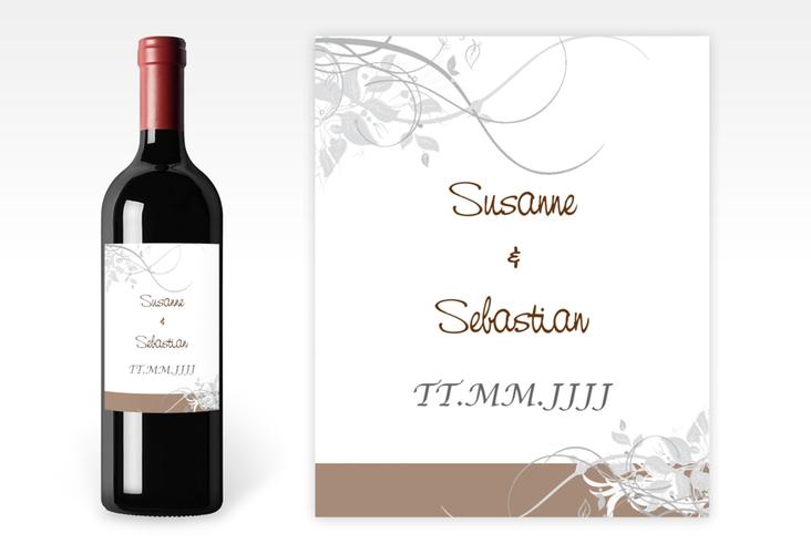 """Weinflaschenetikett Hochzeit """"Florenz"""" Etikett Weinflasche 4er Set"""