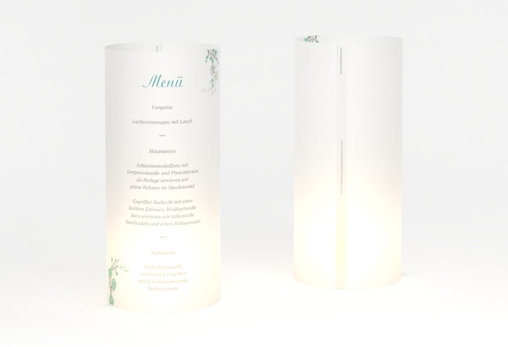 """Windlicht Menü Hochzeit """"Salerno"""" Windlicht mint"""