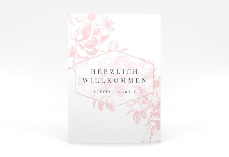 "Willkommensschild Poster  ""Magnificent"" 50 x 70 cm Poster rosa"