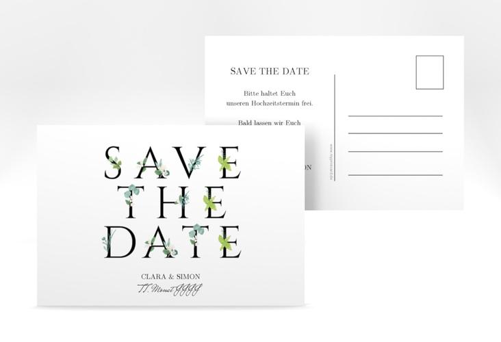 "Save the Date-Postkarte ""Greens"" A6 Postkarte"