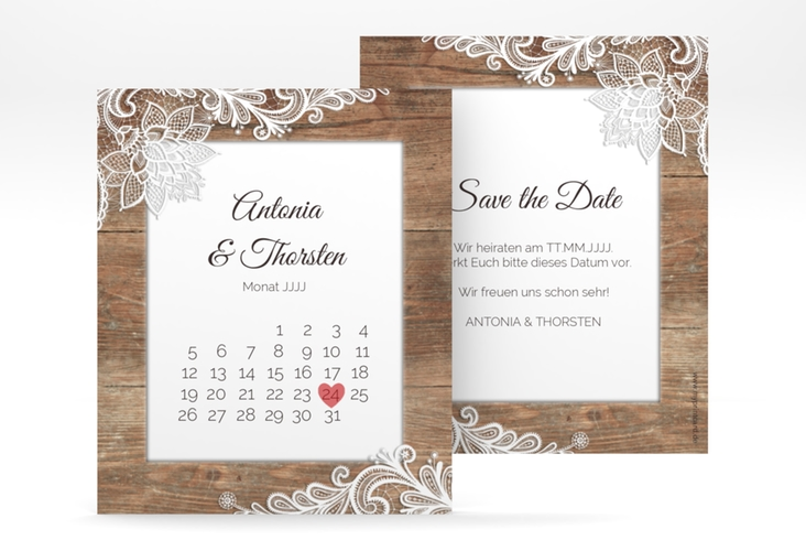 "Save the Date-Kalenderblatt ""Spitze"" Kalenderblatt-Karte"