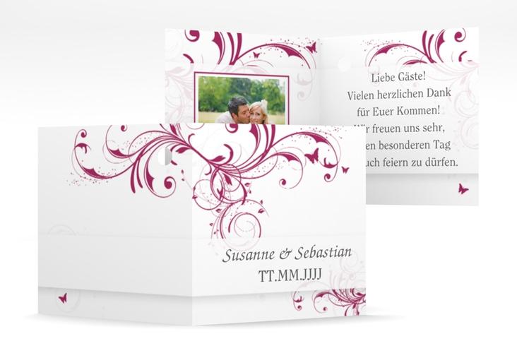 "Geschenkanhänger Hochzeit ""Palma"" Geschenkanhänger 10er Set pink"