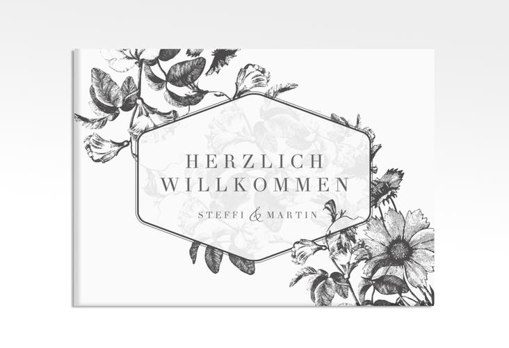 """Willkommensschild Leinwand """"Magnificent"""" 70 x 50 cm Leinwand schwarz"""