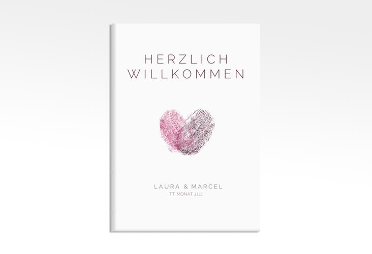 "Willkommensschild Leinwand ""Fingerprint"" 50 x 70 cm Leinwand"