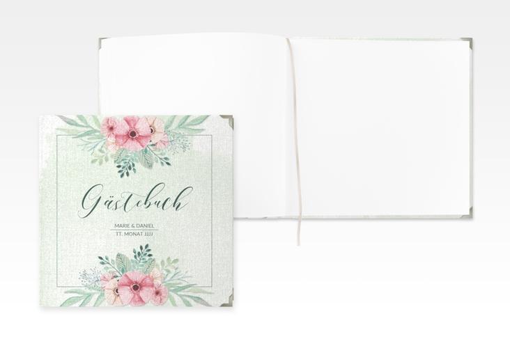 """Gästebuch Selection Hochzeit """"Surfinia"""" Leinen-Hardcover gruen"""